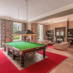 The Billiard Room at Blervie House