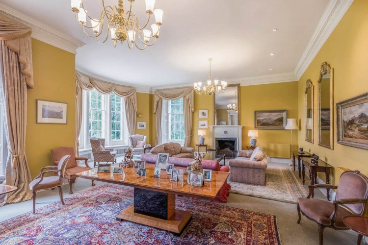 The Gold Sitting Room at Blervie House