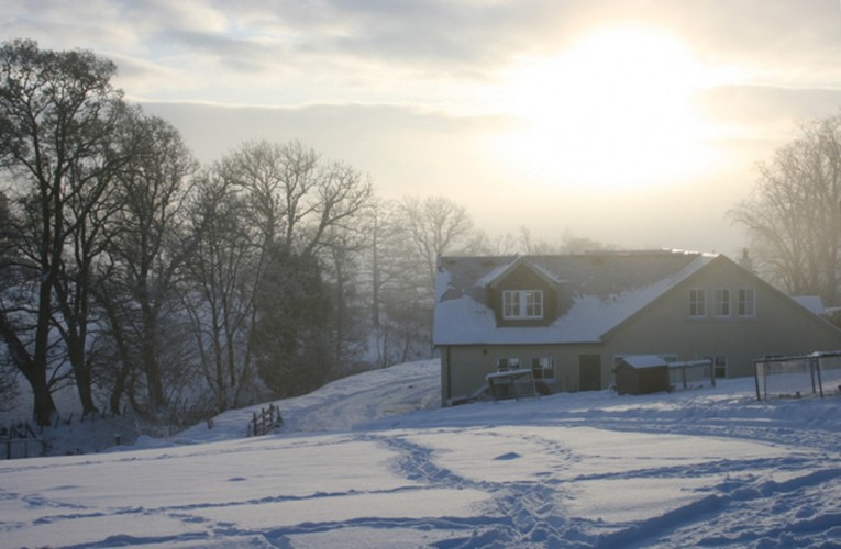 Braefield Bed and Breakfast in winter snow