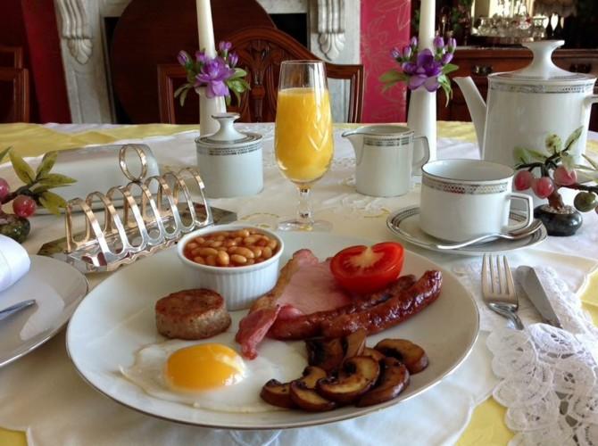Full English Breakfast Atlantic House Bed and Breakfast