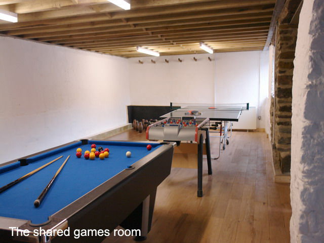 Burnville House the Red barn Games room