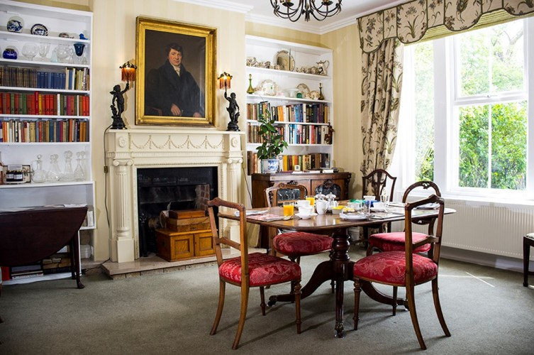 Dowfold House B&B guest breakfast room