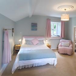 Eastwrey Barton B&B blue bedroom