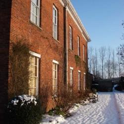 Glebe House Muston B&B in winter