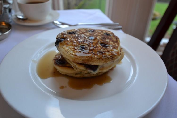 Breakfast Blueberry Pancakes at Glendon House B&B