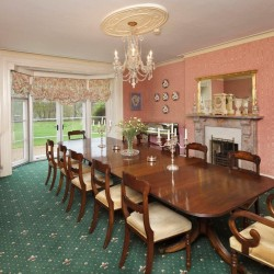 Haughley House B&B guest dining room