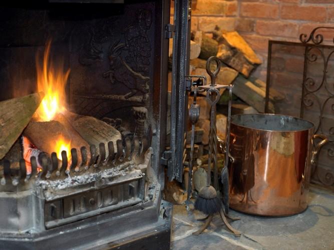 Fireplace at Horseshoe Cottage B&B