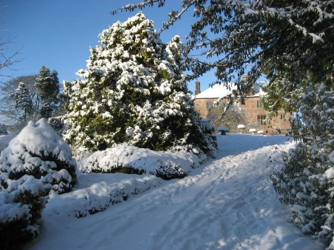 Johnby Hall - the Garden Barn - winter