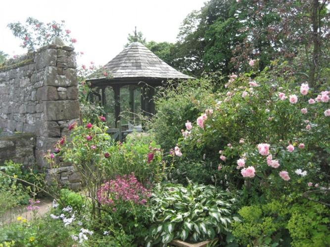 Johnby Hall - the Garden Barn - garden
