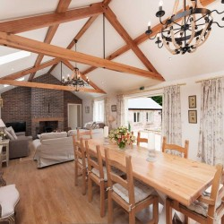 Wrackleford estate Langford Valley Barn self catering sitting room
