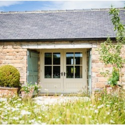 Roseberry Cottage bed and breakfast doors to guest rooms