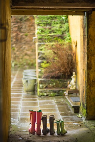 Roundwood House bed and breakfast welly boots