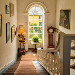 Roundwood House bed and breakfast stairway