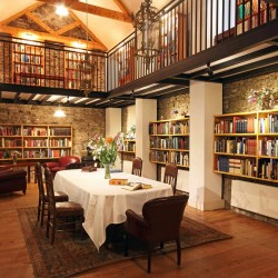Roundwood House bed and breakfast library