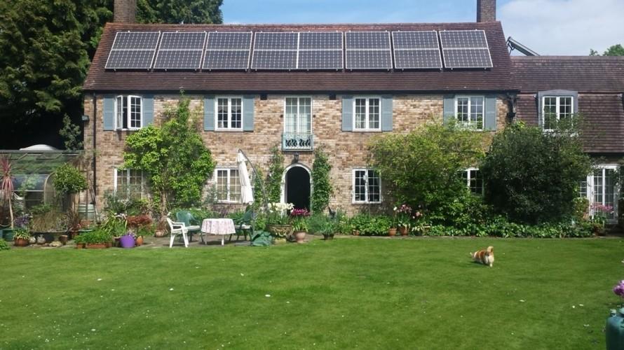 Spindrift Jordans b&b garden house and dog