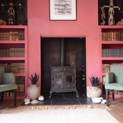 The Cloudesley bed and breakfast sitting room fireplace