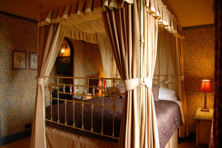 The Old Vicarage Powys bed and breakfast double room