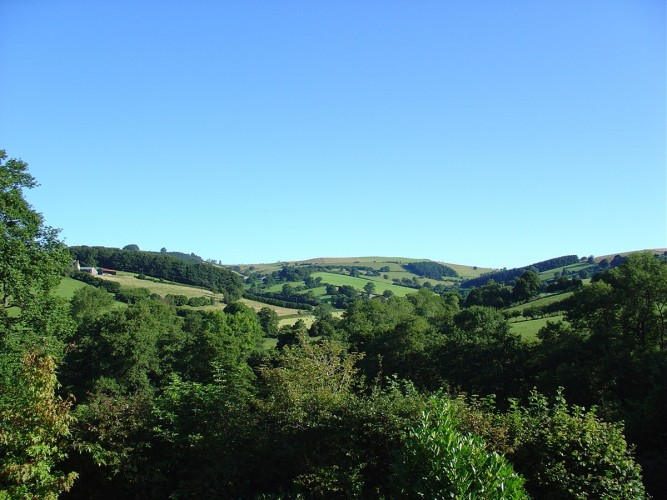 The Old Vicarage Powys bed and breakfast views