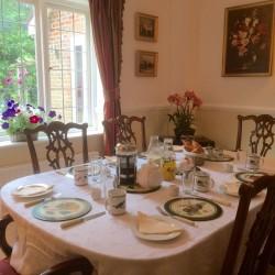 Tirol House breakfast table