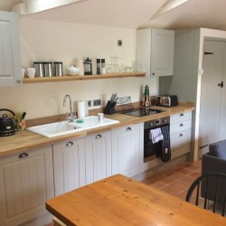 West Stow Hall self catering Orchard & Garden Cottage kitchen