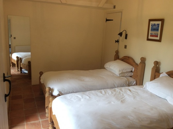 West Stow Hall self catering Orchard & Garden Cottage bedroom