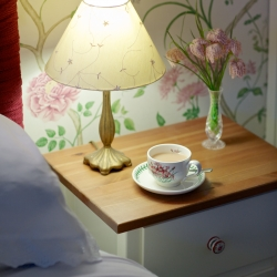 Morning cup of tea at Horseshoe Cottage B&B