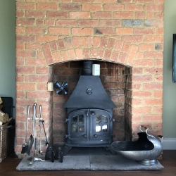 Holywell Lodge stove view