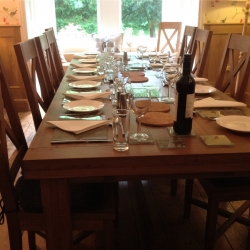 Derwent House self-catering Dining table