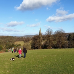 Derwent House self-catering Walking at Edensor