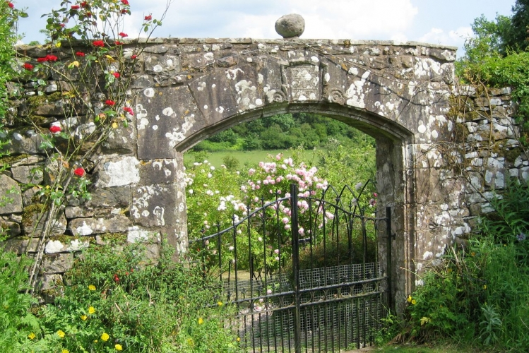 Johnby Hall entrance-to-walled-garden