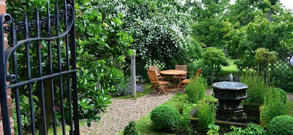 Upton Cressett Hall Gatehouse B&B garden1