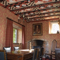 Upton Cressett Hall, B&B, the gatehouse dining room