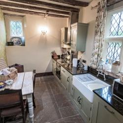 Upton Cressett Hall, B&B, the gatehouse guest kitchen