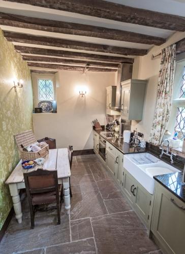 Upton Cressett Hall, B&B, the gatehouse kitchen