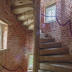 Upton Cressett Hall, B&B, the gatehouse staircase
