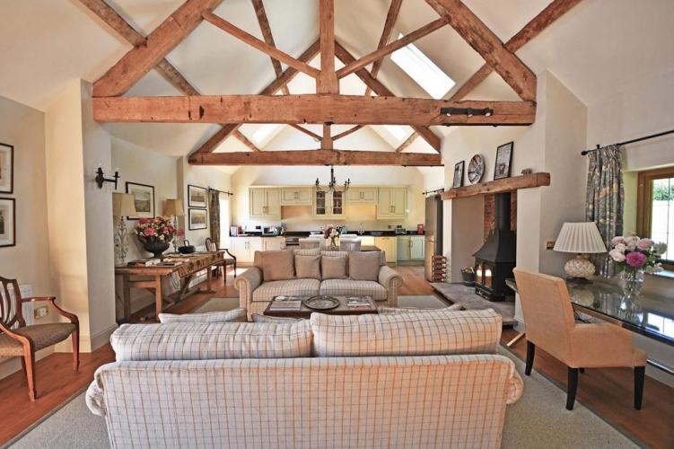 Upton Cressett The Moat House living room