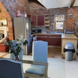 Upton Cressett Hall The Coach House living room