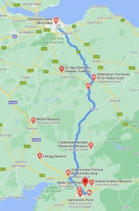 Borders Historic Route with attractions