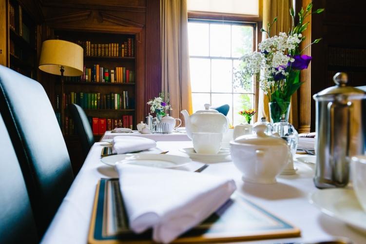 Hoveton Hall B&B guest breakfast room